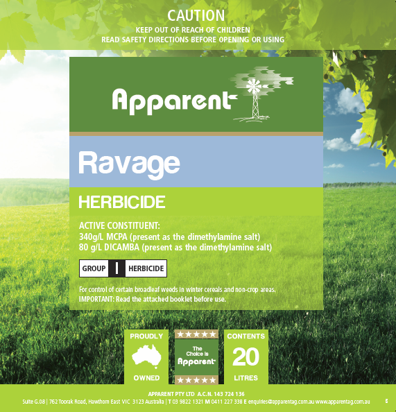 Apparent Ravage (Dicamba MCPA) 5lt
