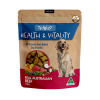 Tidbits Health & Vitality Grain Free Beef Dog Biscuits 350g