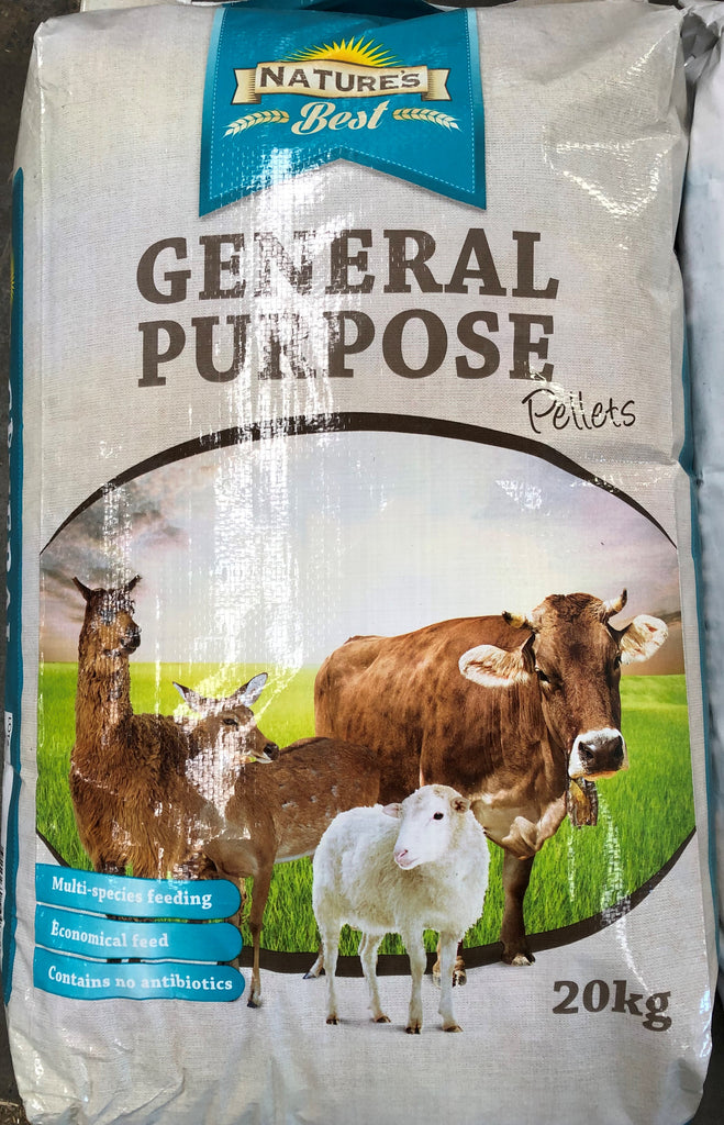 5 Bags General Purpose Pellets 4mm (nature's best) 20kg