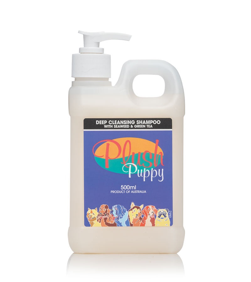Plush Puppy Deep Cleansing Shampoo with Seaweed & Green Tea 500ml
