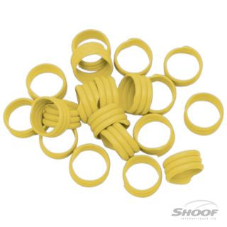 Poultry Leg Bands Plastic 16mm Yellow 20 pack