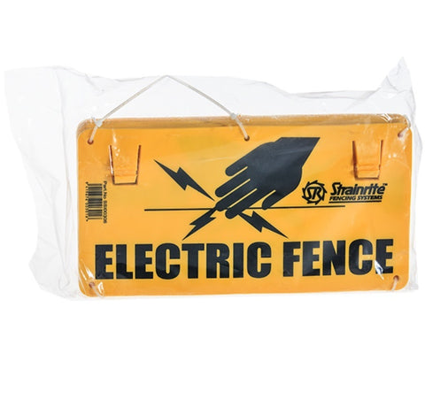 Electric Fence Warning Signs Bundle of 10