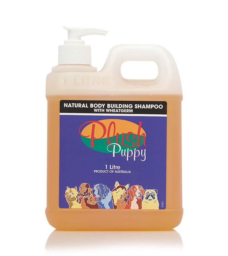 Plush Puppy Natural Body Building Shampoo with Wheatgerm 500ml