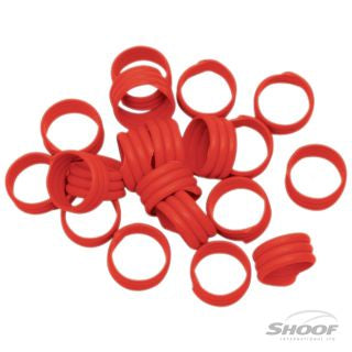 Poultry Leg Bands Plastic 16mm Red 20 pack