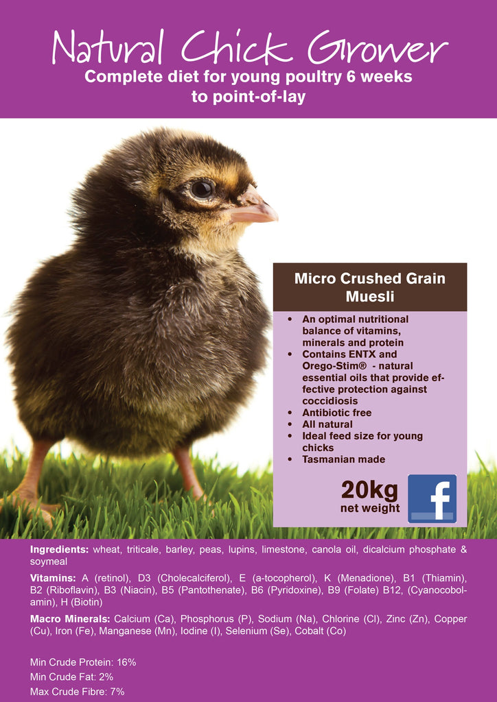 Seedhouse Natural Chick Grower 20kg