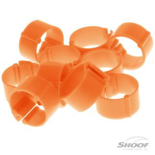 Poultry Leg Band Clip-on 20mm 10pk Orange