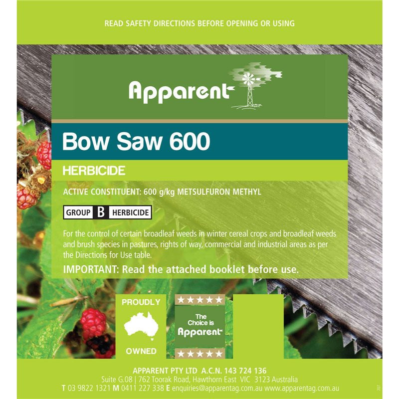 Apparent Bow Saw (Metsulfuron) 500gms