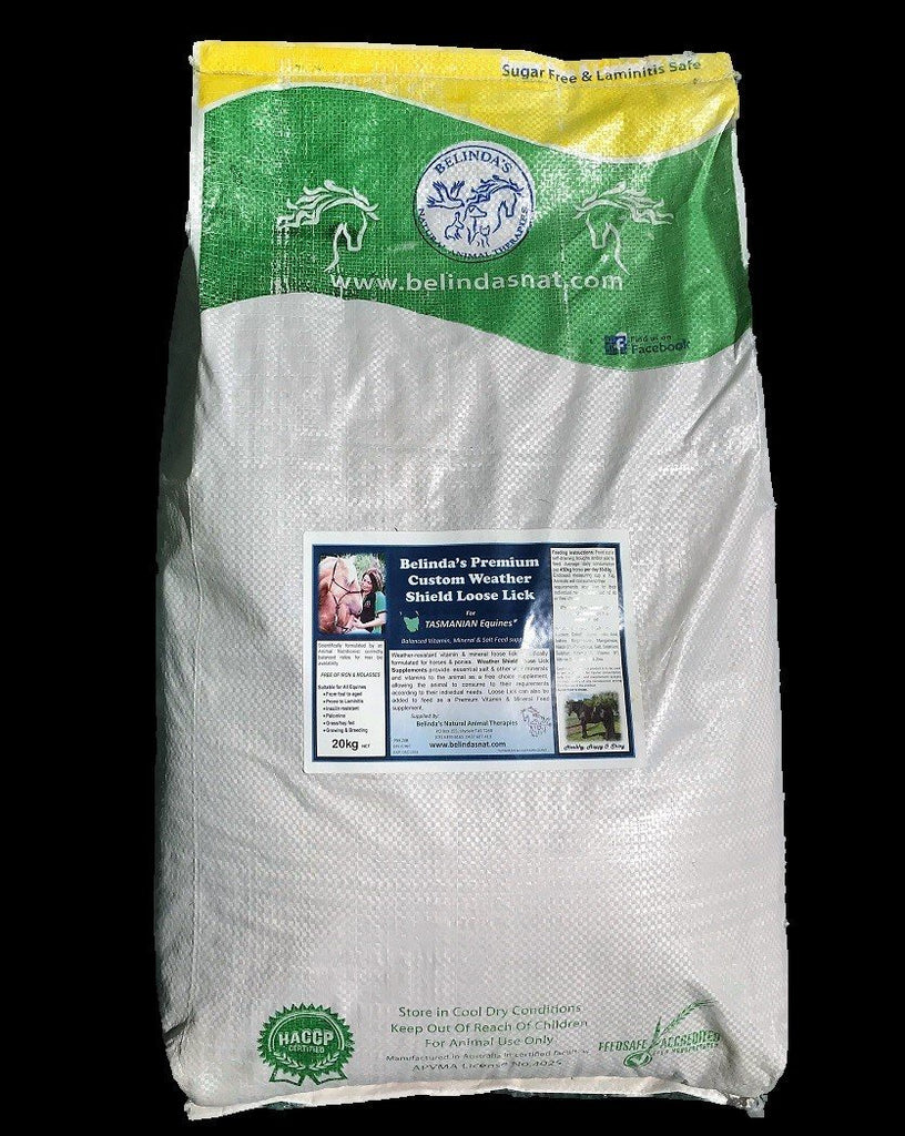 Belinda's Premium Custom Weather Shield Loose Lick Supplement - For TAS Equines  20kg bag