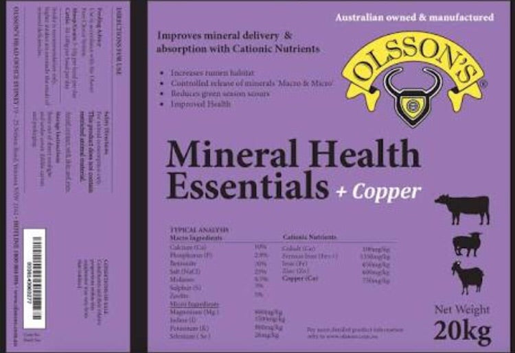 Olssons Mineral Health Essentials + Copper