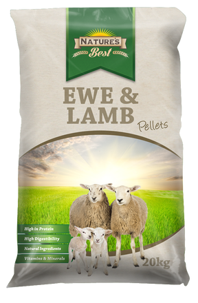 Natures Best Ewe & Lamb Pellets 20Kg