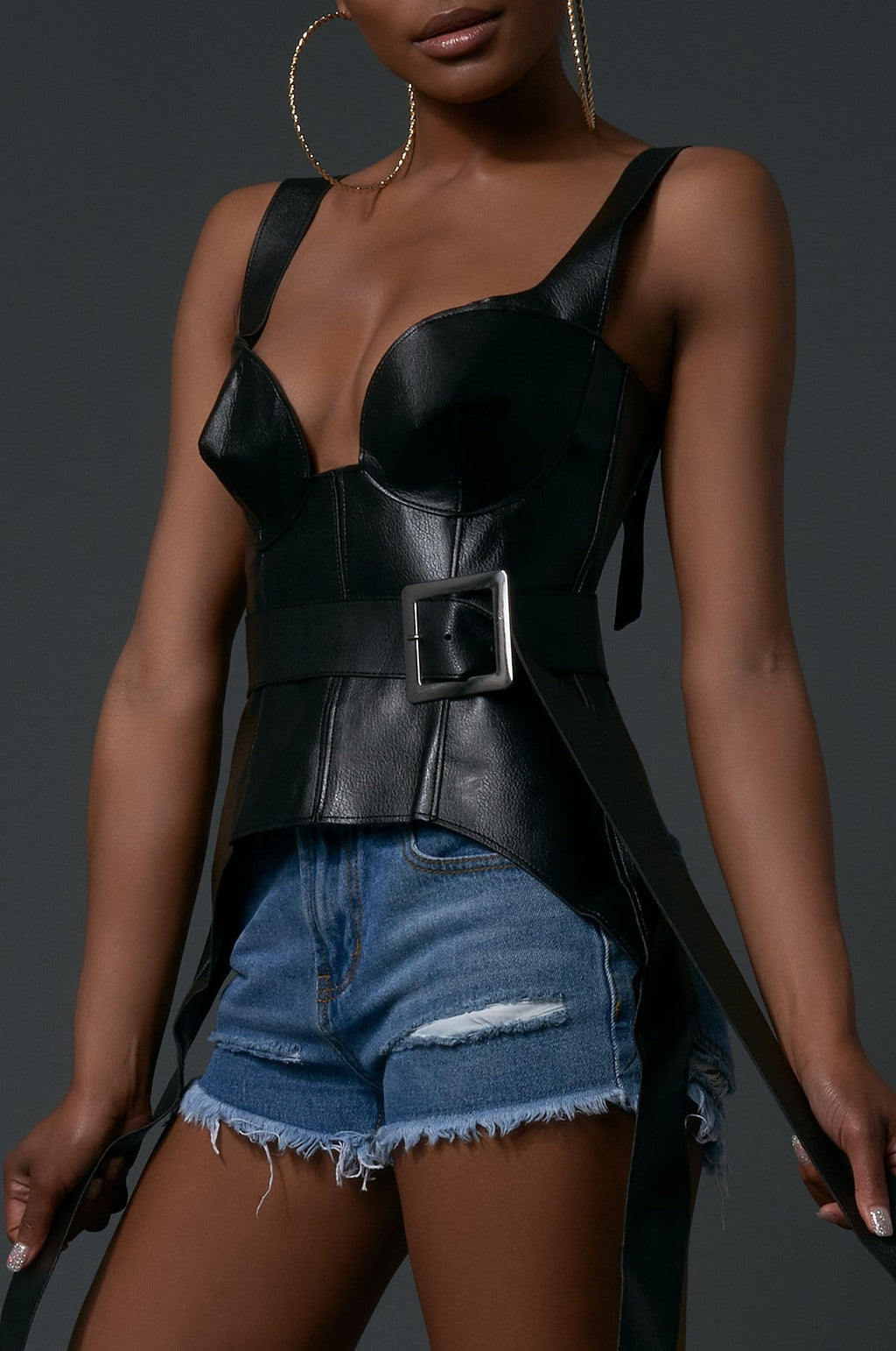 'Phoenix' Faux Leather Bustier
