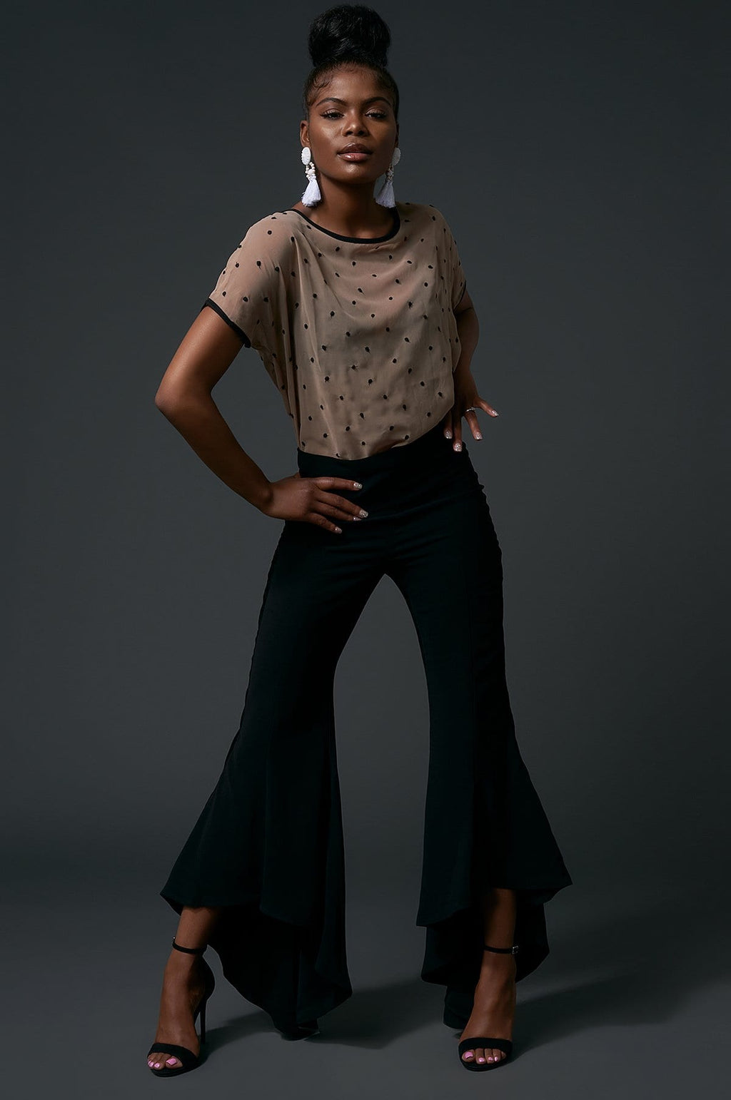 "'Sadie"" High-Waist Flare Pants"