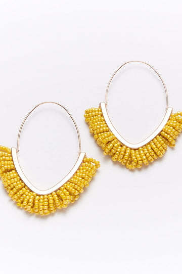 'Somalia' Beaded Drop Earrings