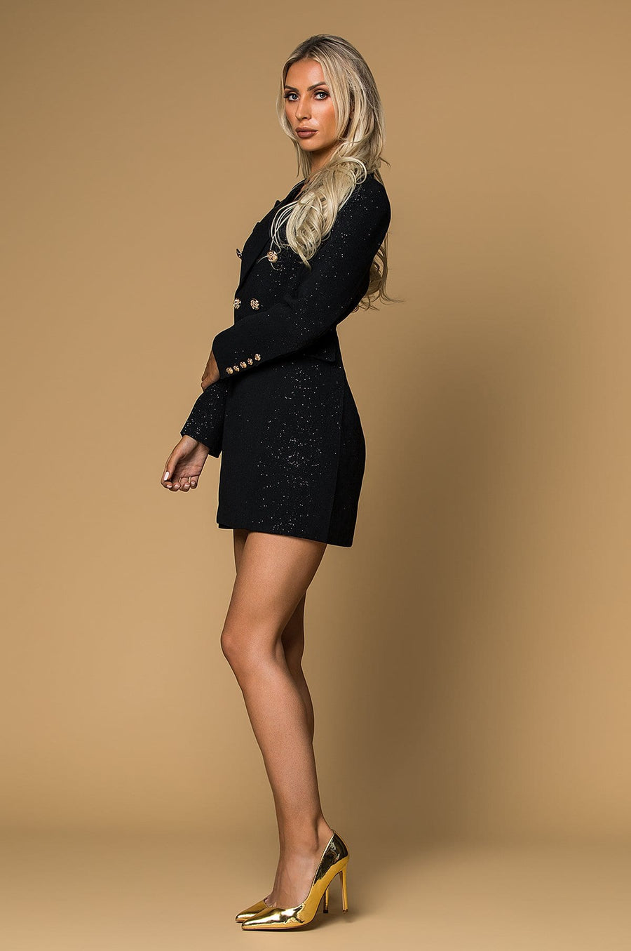 'Blakely'  Glitter Blazer Dress
