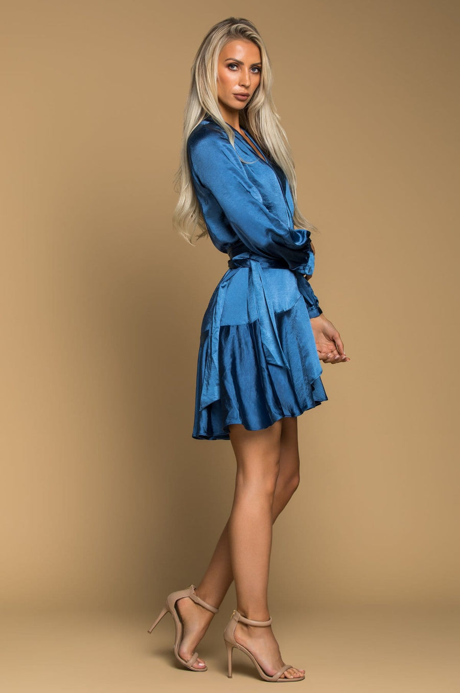 'Charlotte' Satin Wrap Dress