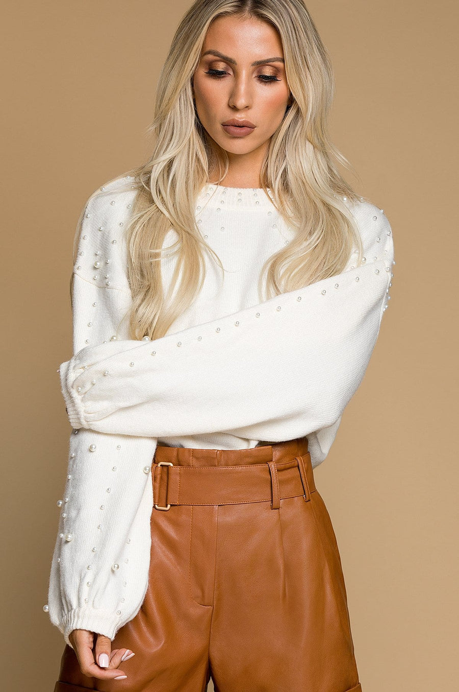 'Camille' Embellished Sweater