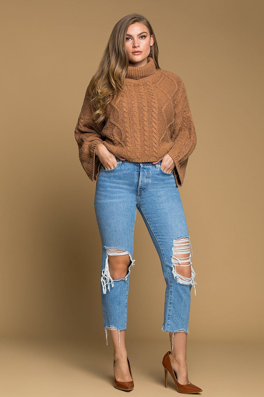 'Karter' Cropped Sweater