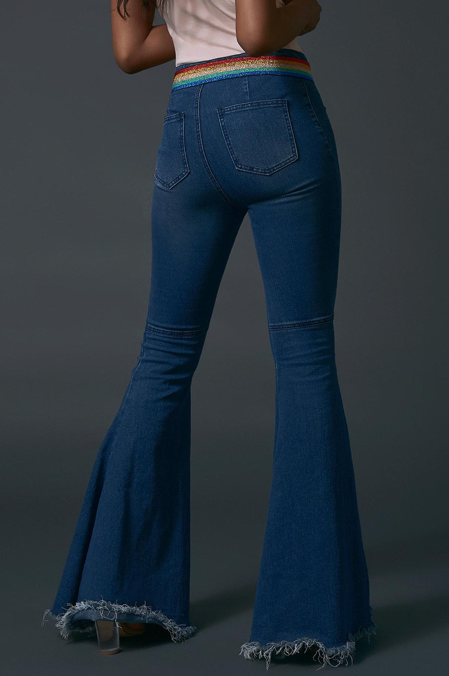 'Dakota' High Rise Bell Jeans