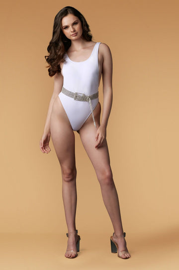 'Ayva' Ribbed One-Piece Swimsuit