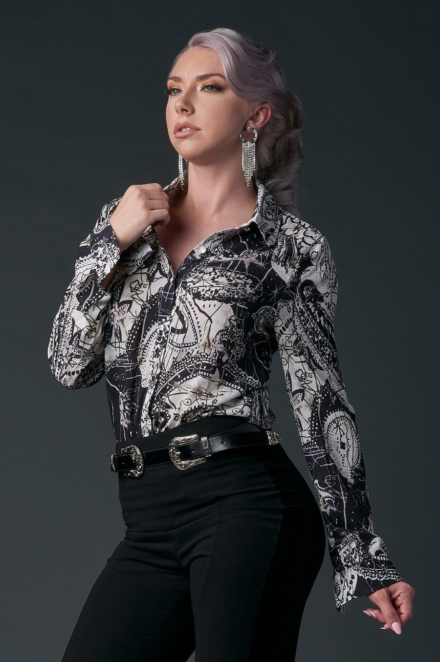 'Josie' Button Down Blouse