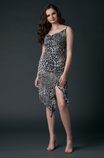 'Julianna' Cheetah Print Midi Dress