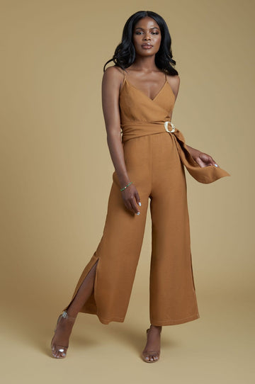 'Shana' Lace-Up Jumpsuit