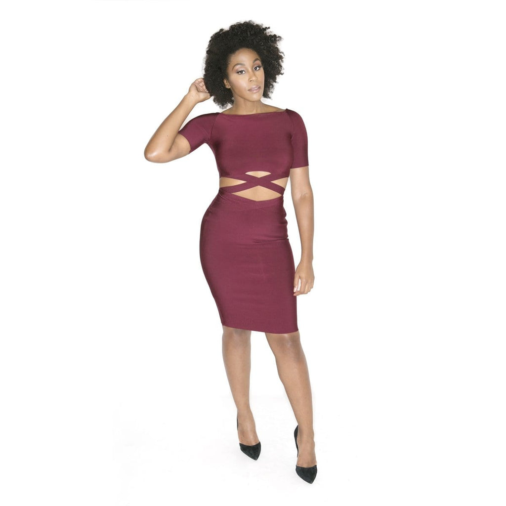 'Hala' Two Piece Bandage Dress