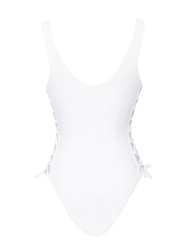 'Rumi' Lace-Up One-Piece Swimsuit