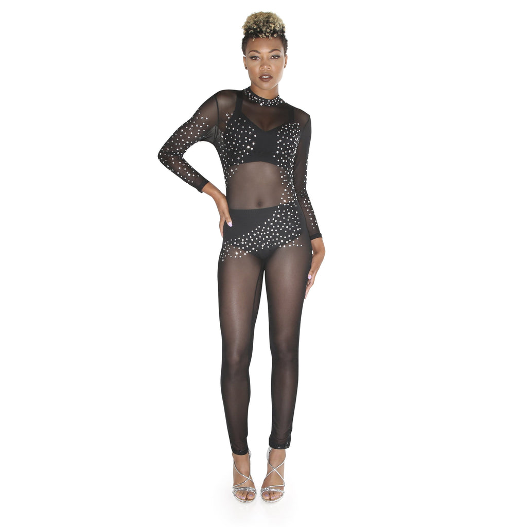 'Thalia' Sheer Jumpsuit