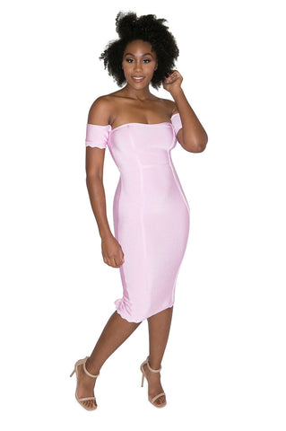 'Inez' One Shoulder Ruffle Bandage Dress