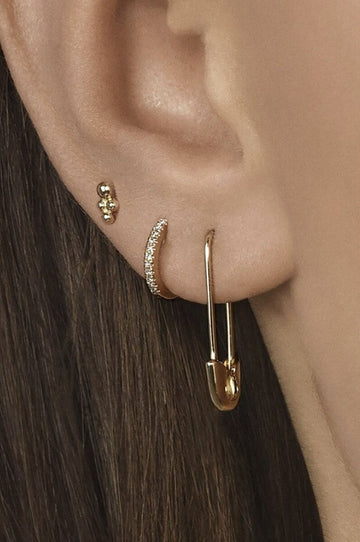 'Kelsey' Safety Pin Earrings