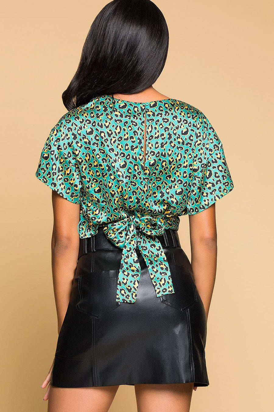 'Rena' Front Twist Tie Back Blouse