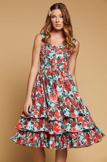 'Juliet' Midi Floral Dress