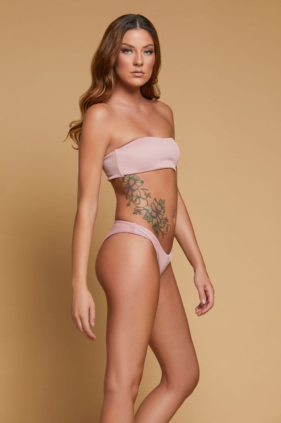 'Stella' Two Piece Ribbed Knit Bikini