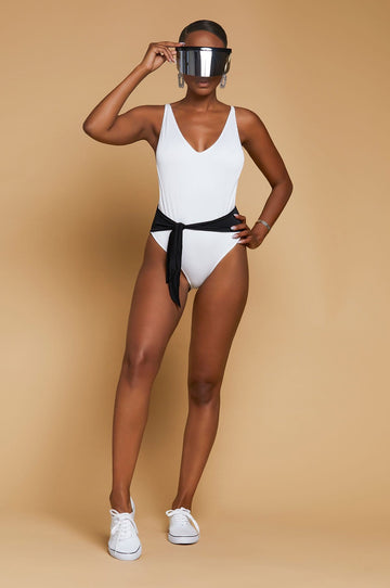 'Shelby' Tie-Front One Piece Swimsuit