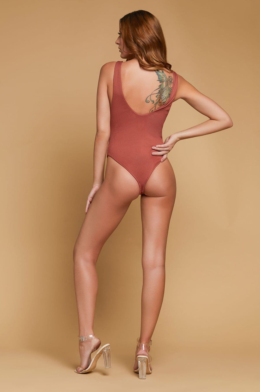 'Briya' Lace-Up One Piece Swimsuit