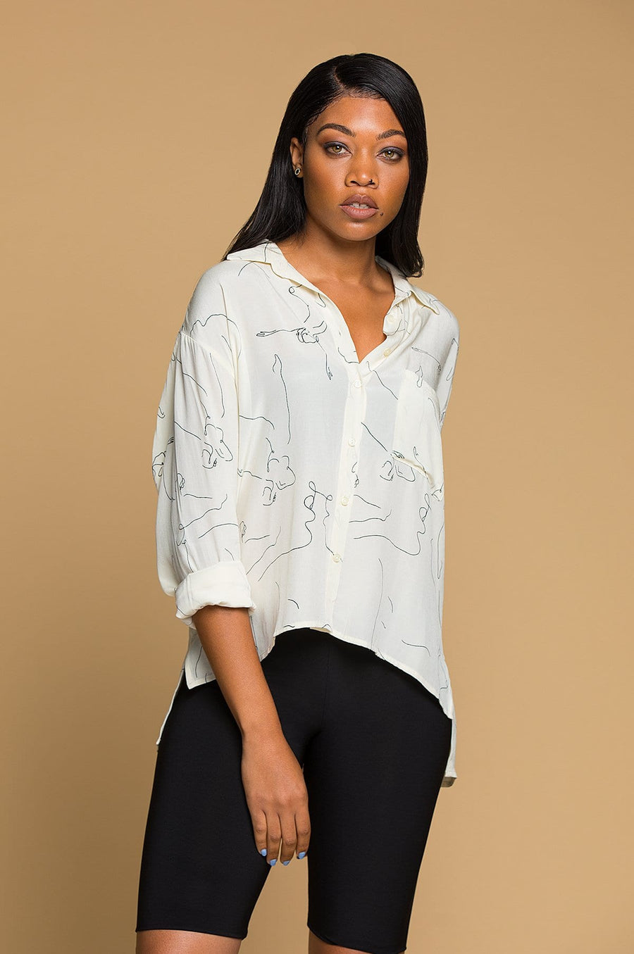 'Tori' Button Up Top
