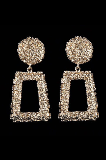 'Paloma' Gold Door Knocker Earrings
