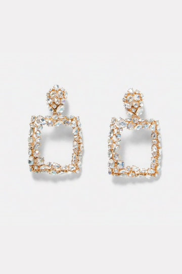 'Maxiana' Gold Crystal Earrings