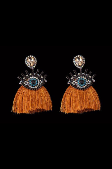 'Gypsy' Rhinestone Fringe Tassel Earrings!