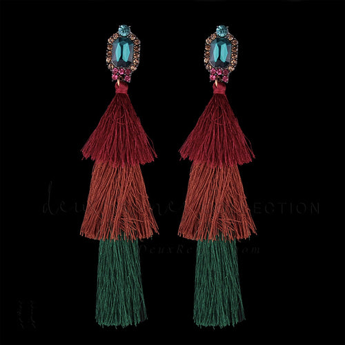 'Claudius' Tassel Earrings