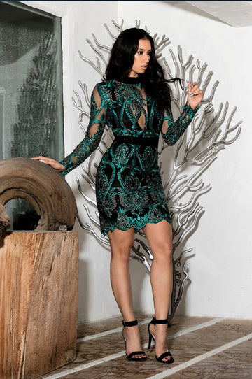 'Electryone' Lace Mini Dress