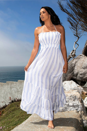 'Isabeli' Striped Maxi Dress