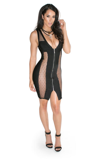 'Euphemia' Mesh Bandage Dress
