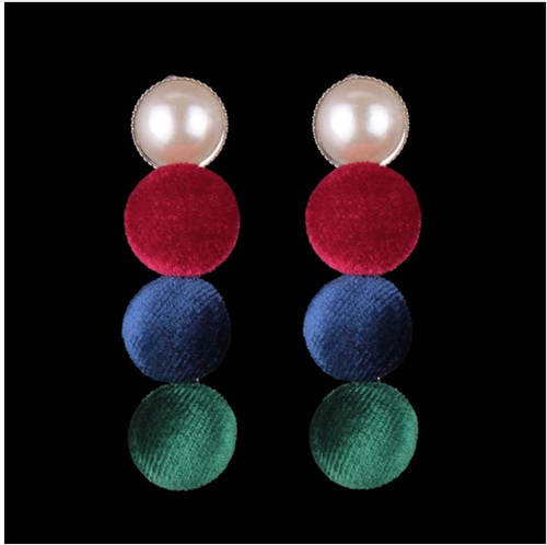 'Columba' Button Earrings