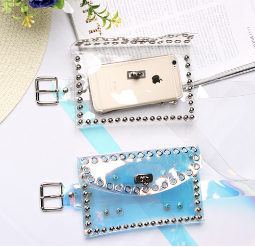 'Silvius' clear purse belt