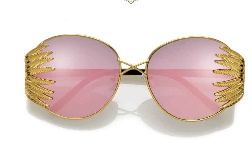 'Florus' Feathered  Frame Sunglasses