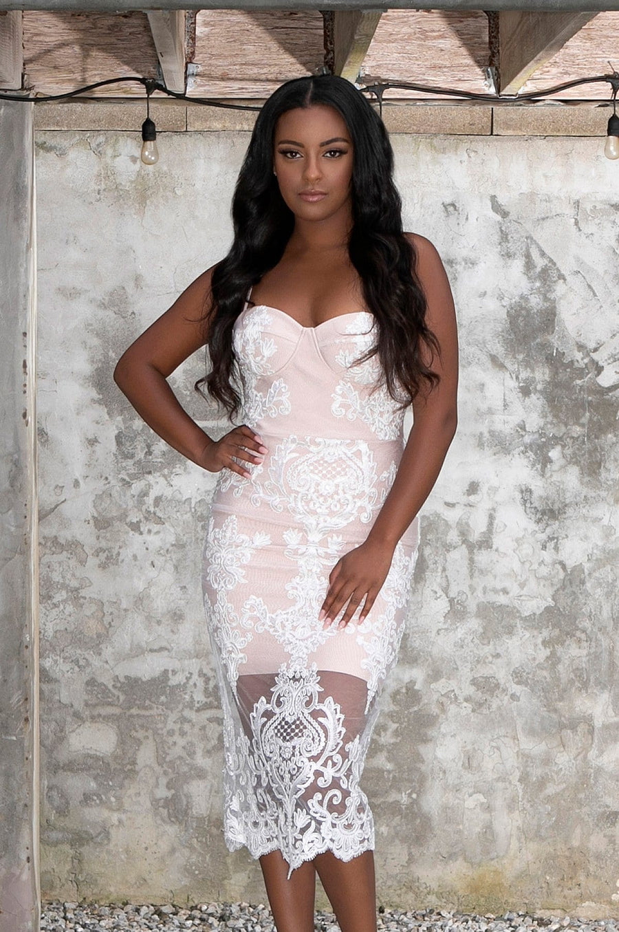 'Seraphina' Lace Bandage Dress