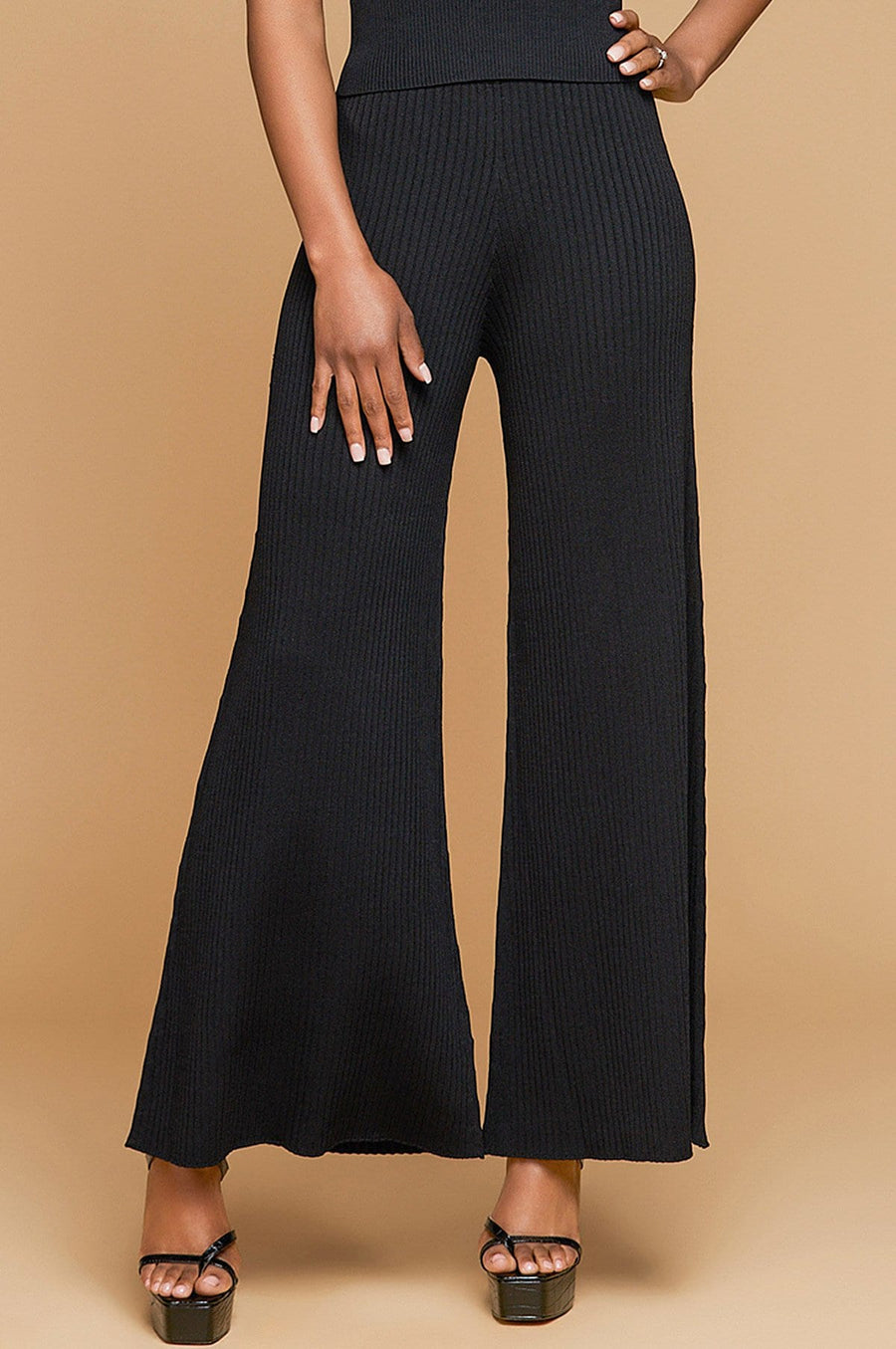 'Georgia' Ribbed Knit Pants