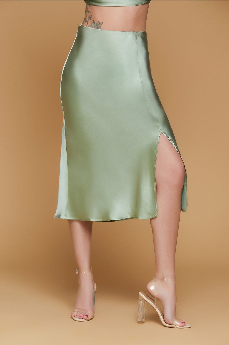 'Kelly' Satin Skirt